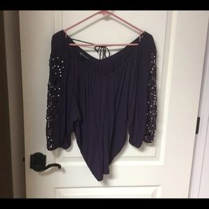 💐5/$25💐 INC Soft Rayon with Lace/Bling EUC